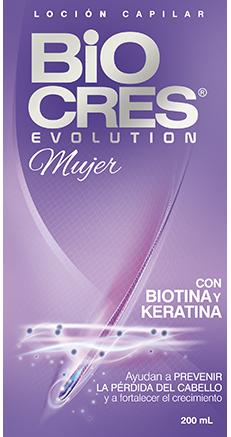 BIOCRES - Evolution Mujer producto Con BIOTINA
